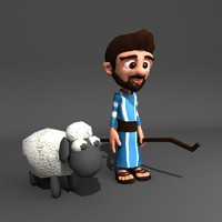 animation shepherd 3d model