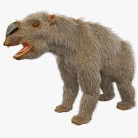 maya diprotodon fur