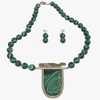 malachite jewelry 3d 3ds