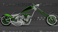 custom chopper 3d 3ds