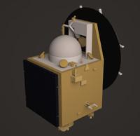 mars orbiter mission 3d max