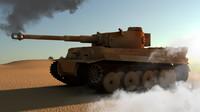 3d model pzkpfw vi tiger tank