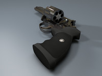 3d magnum guns weapon model