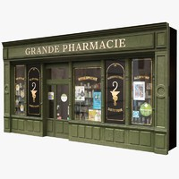 3d model of france pharmacy