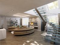 3ds max interior apartment modern
