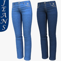 realistic woman jeans 3d max