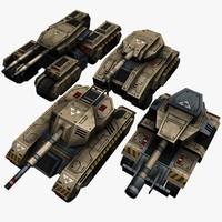 4 Sci Fi Tanks