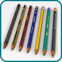graphite pencils obj