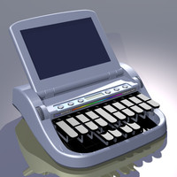 stenotype machine 3d model