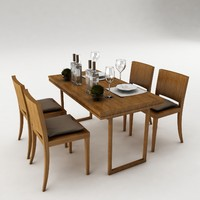 dining set table obj