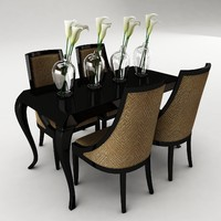 dining set table 3ds