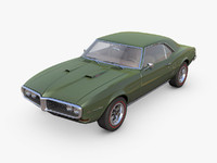 3d model pontiac firebird 1968