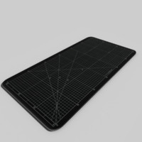 black cutting mat 3d model