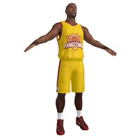 basketball player 2 3d max