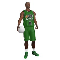 rigged basketball player ball 3d max