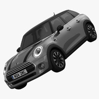 3d bmw mini hardtop 5-door