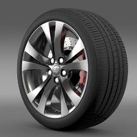 3d model opel insignia wheel