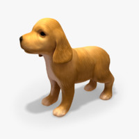 3d model of puppy rigged