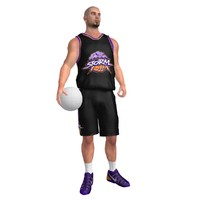 3dsmax rigged basketball player ball