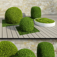 3ds max bushes