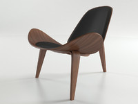3d model wegner shell chair
