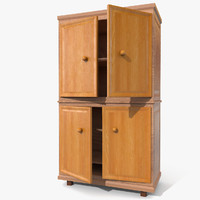 3d wardrobe wood model