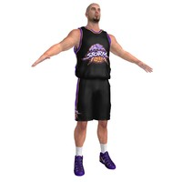 3d model of basketball player 6