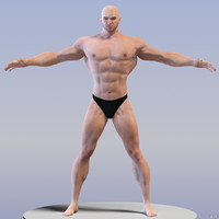 3d athletic male