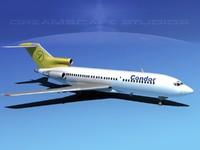 3ds boeing 727 727-100