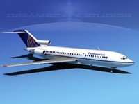 3d lwo boeing 727 727-100