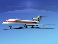 airline boeing 727 727-100 3d dwg