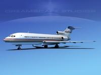 boeing 727 jet 727-100 3d x