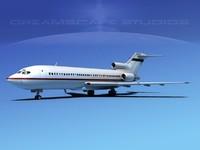 boeing 727 jet 727-100 3d max