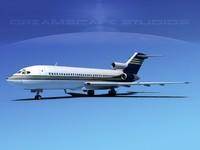 3d boeing 727 jet 727-100 model