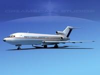 3dsmax boeing 727 jet 727-100