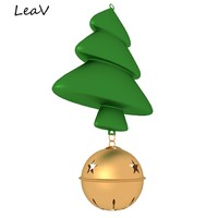 3d christmas tree bell model