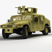 realistic hmmwv military humvee 3d model
