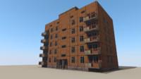 building interiors 3d blend