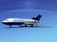 3d model boeing 727 727-100