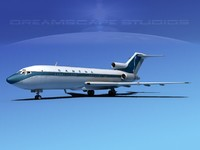3d 3ds airline boeing 727 727-100