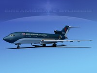 3d airline boeing 727 727-100 model