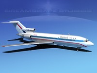 airline boeing 727 727-100 3d max