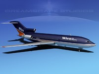 3d dxf airline boeing 727 727-100