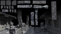 ruin elements 3d model
