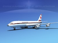 3ds max 707-320 airlines boeing 707