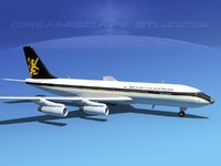 3d 3ds 707-320 airlines boeing 707