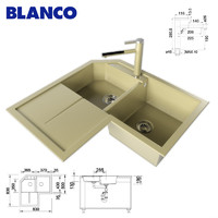 kitchen sink blanco 3d model