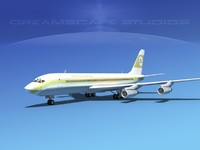 707-320 airlines boeing 707 3d dxf