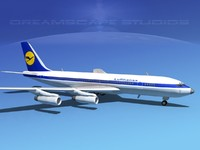 3dsmax 707-320 airlines boeing 707