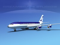 707-320 airlines boeing 707 3d model
